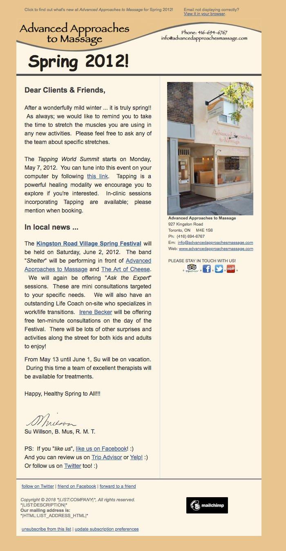 Newsletter: Spring (2012)