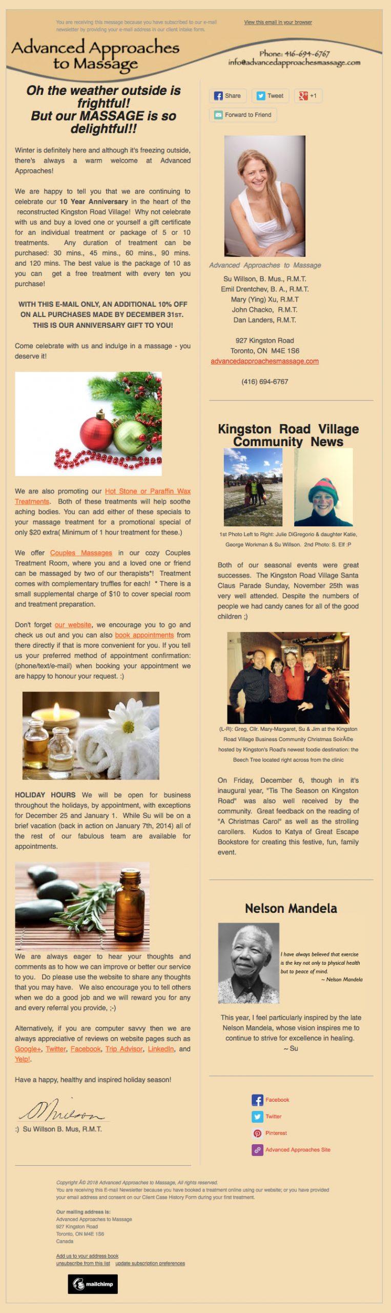 Newsletter: Winter (2013)